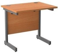 TC Office Single Upright Rectangular Desk - (w) 800mm x (d) 600mm