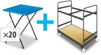 Titan 20 Prolypropylene Exam Desk & Trolley Bundle